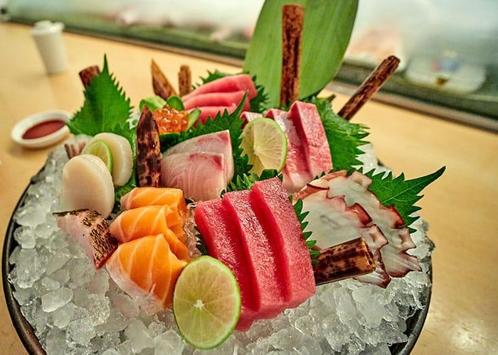 Fresh sashimi fish